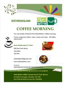 Coffee Morning Flyer. East Park