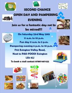 OPEN DAY PAMPERING EVENING POSTER