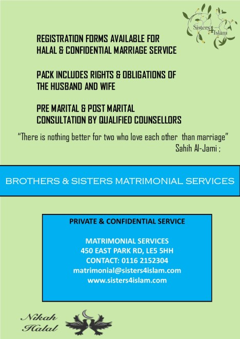 Marraige Service Flyer NF